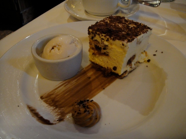 tiramisu, even though i don't like tiramisu.